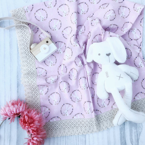 Eden Snuggle, Deer & Forrest - Swaddle Throw Rug