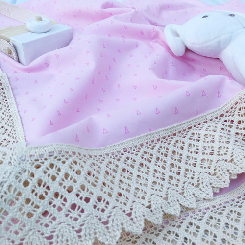 Eden Snuggle, Pink Geometric - Swaddle Throw Rug