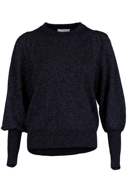 Kelsey Lurex Knit blouse - navy