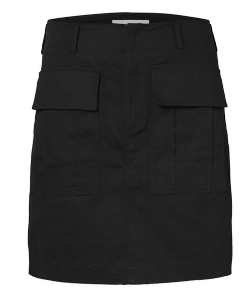 Mid-Rise mini skirt Black