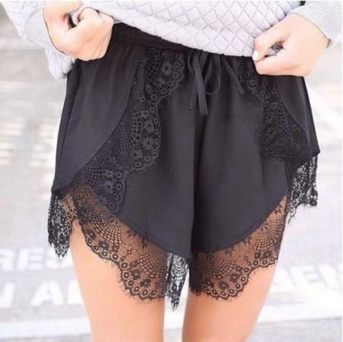 'Beverly' blonde shorts