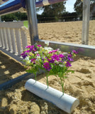 Arena Flowers - 40cm Timber Base (pair)