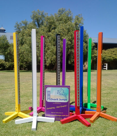 Jump Stands - Aluminium Powder Coated (pair) - Limited stock still available - please contact before ordering