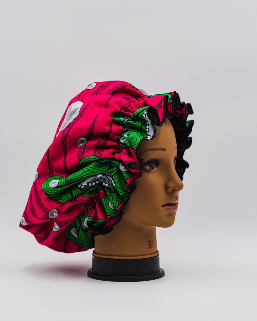 FLO REVERSIBLE SATIN HAIR BONNET