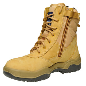 "Lace Up Zip Sider 8"" Safety Boot"