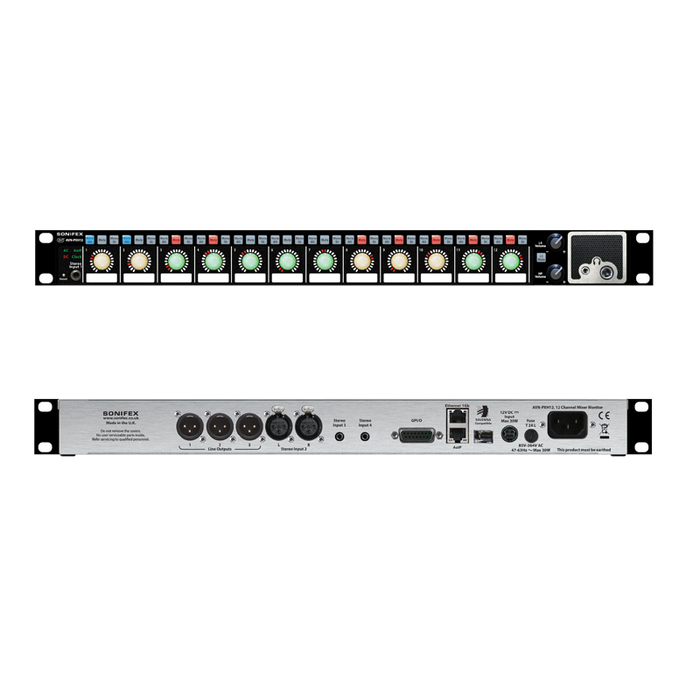 AVN-PXH12 12x2 Channel Mixer Monitor