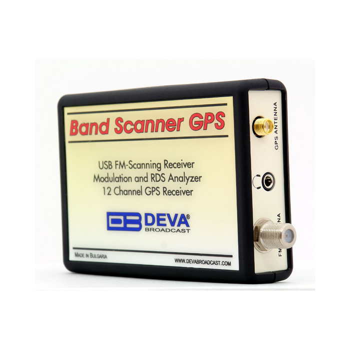 Band Scanner GPS USB FM-Scanning receiver with built-in GPS Receiver