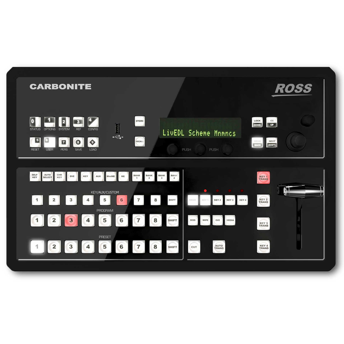 Carbonite Black SOLO 1 M/E Live Production Switcher with 9 Inputs and 6 Outputs All In One