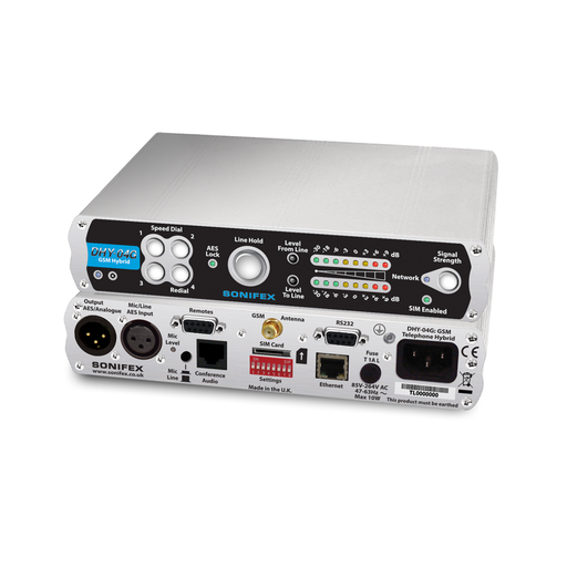 DHY-04G Single Automatic GSM Hybrid, AES/EBU & Analogue I/O With Ethernet