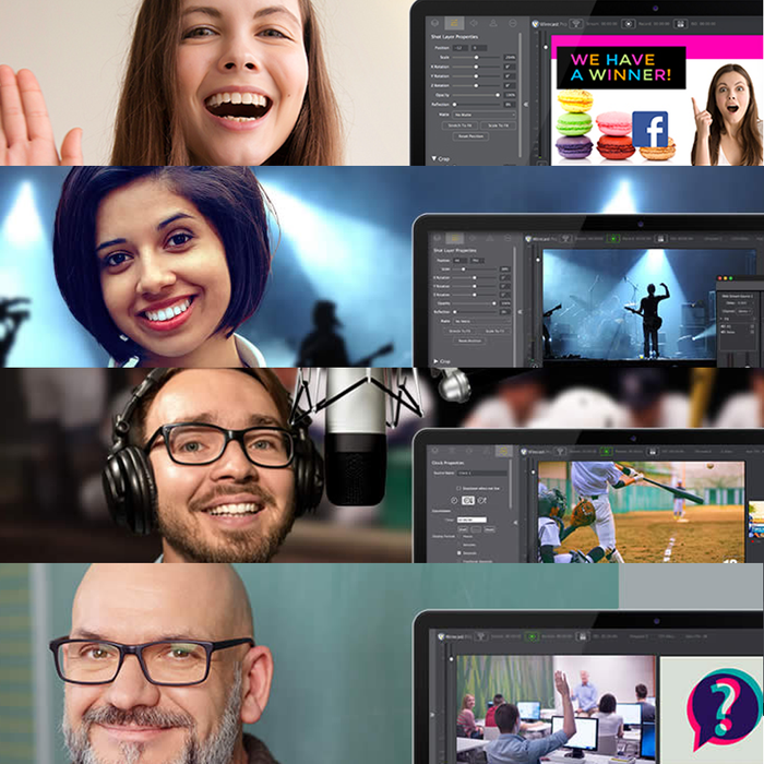 Wirecast Live video streaming production software for Mac & PC