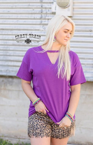 Purple Textline Tunic