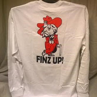 Finz up! Adult 100% Cotton Long Sleeve T-shirt (Col Rebel)‏