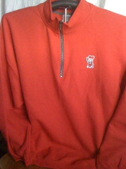 Finz Up! Game Day Quarter-Zip Cadet Collar Sweatshirt (Col Reb)