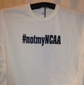 #notmyNCAA 100% Cotton Adult Long Sleeve T-shirt (Finz Up Col) NSFW