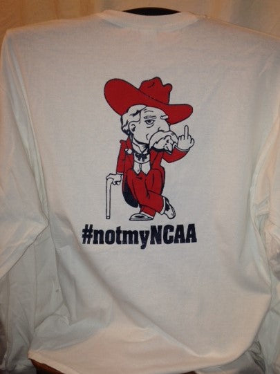 #notmyNCAA 100% Cotton Adult Long Sleeve T-shirt (Col Rebel) NSFW