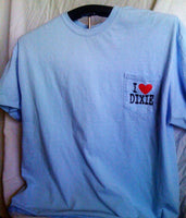 Finz up! Adult 100% Cotton Short Sleeve Pocket T-shirt (I Heart Dixie)‏