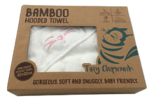 Gift box for Tiny Chipmunk extra-large bamboo hooded towel with ears - pink
