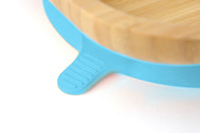 Tiny Chipmunk Baby Bamboo Divider Plate & Spoon Set With Suction - Choice of Colour
