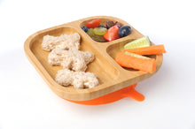 Tiny Chipmunk Baby Bamboo Divider Plate & Spoon Set With Suction
