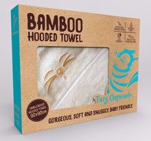 Gift box for Tiny Chipmunk extra-large bamboo hooded towel with ears - yellow
