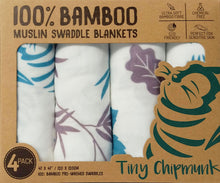 Box for Tiny Chipmunk bamboo muslin swaddle blankets