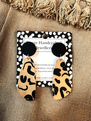 Animal Like Print Snugs Earrings
