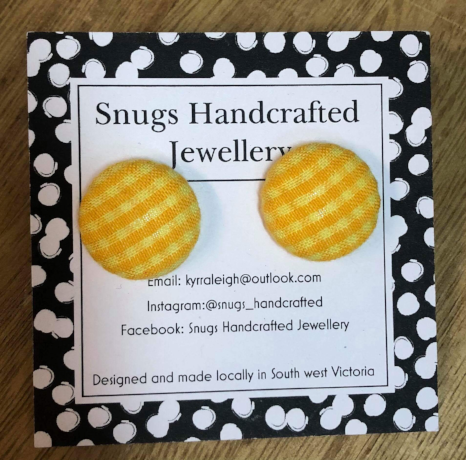 Snugs Earrings - Fabric Studs