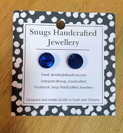 Snugs Earrings - Stud - Deep Blue