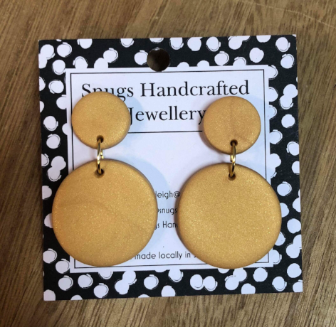 Snugs Earrings - Mustard - Medium