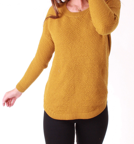 Ivy Zip Back Jumper - Mustard