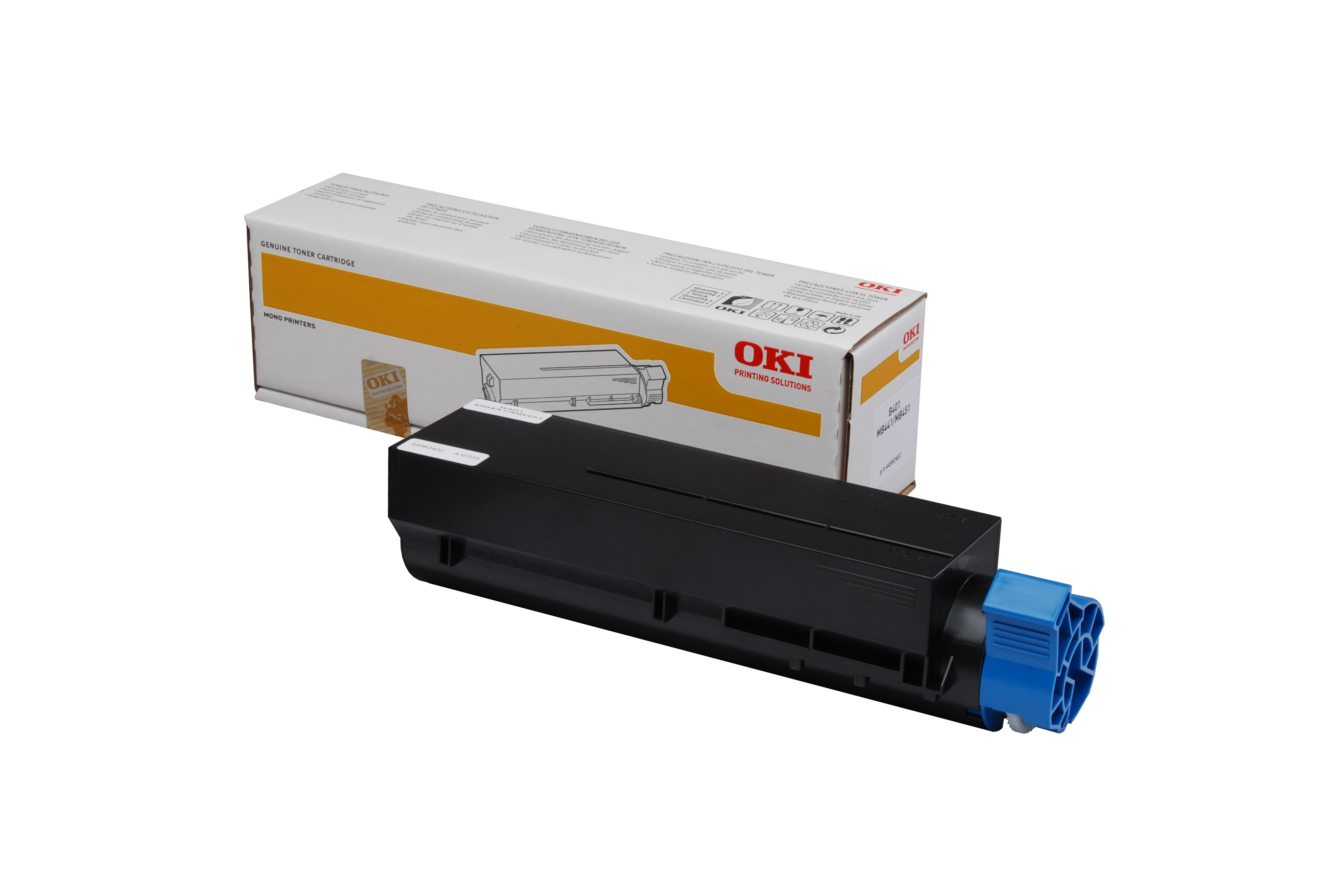 OKI B401dn Black Toner (1,500 Pages) 44992406