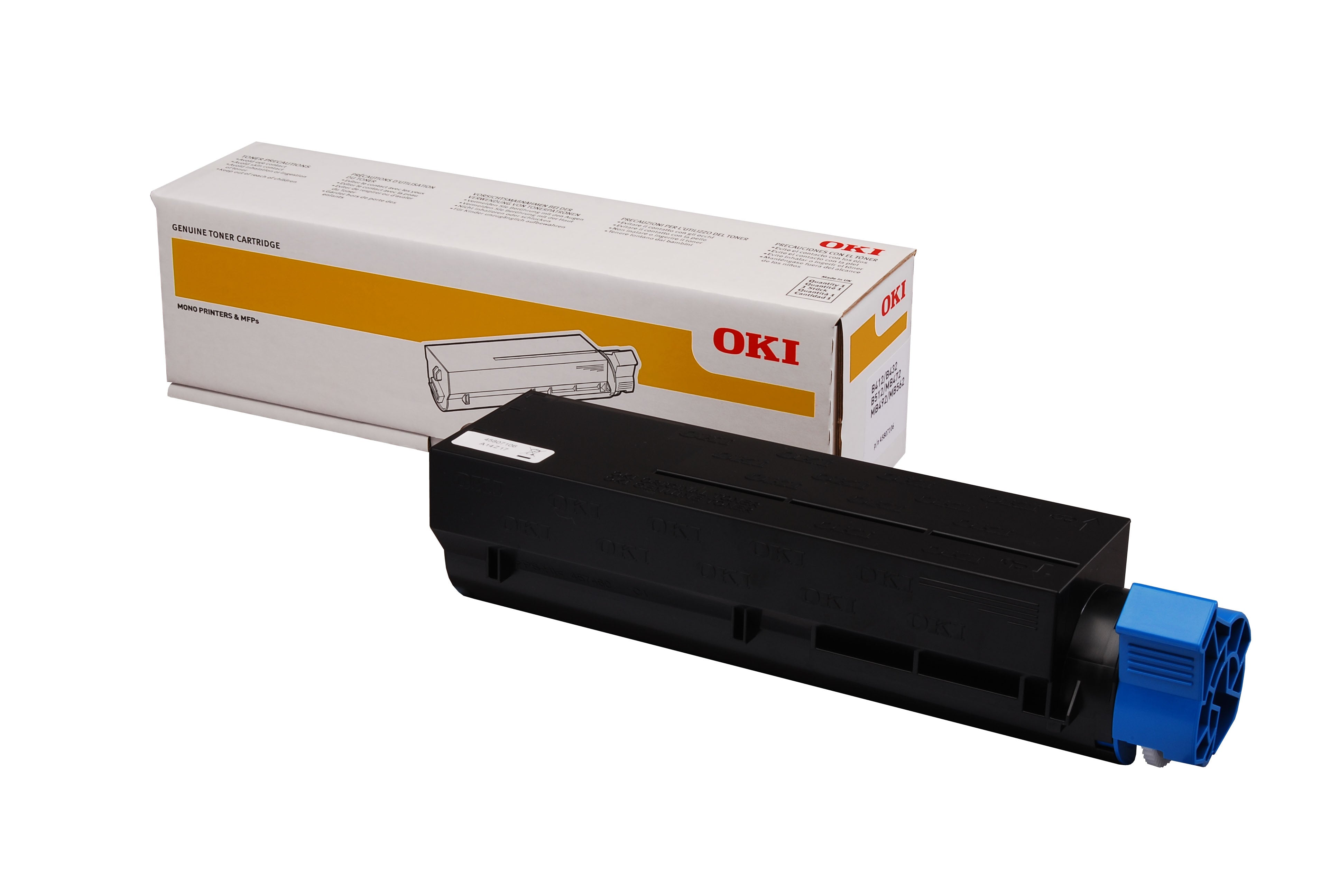 OKI MB472DNW Black Toner (7,000 Pages) 45807107