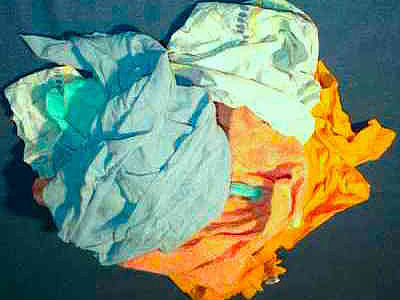 Coloured T-Shirt material Rags - 20kg Bag