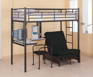 Bunk Bed (Twin Futon Workstation Loft Bed Collection)