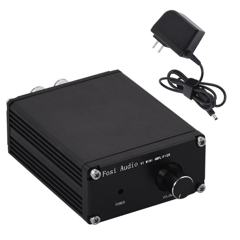 V1 Fosi Audio 2 Channel Stereo Audio Hi-Fi Amplifier Receiver Small Mini Class d Digital Amp for Home Car Speakers with Power Supply TPA3116 50Watt