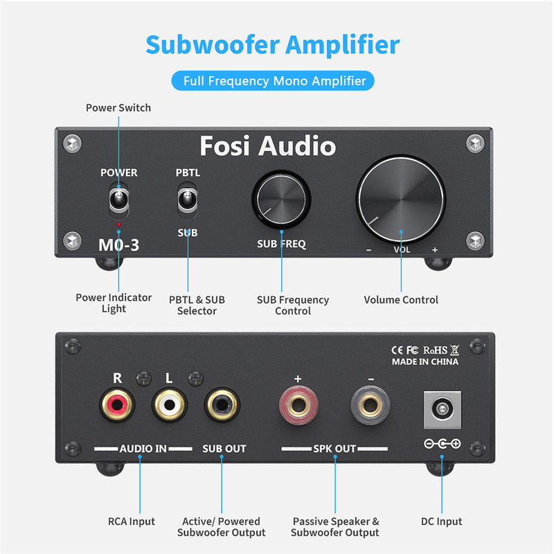 subwoofer amplifier home theater