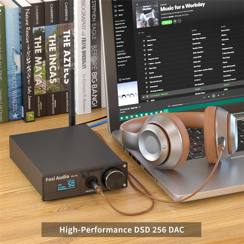 Fosi Audio Q6 USB HiFi DAC Bluetooth 5.0 Headphone Amplifier