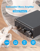 TP-03 Subwoofer Amplifier & Mono Amp Full-Frequency and Sub Bass Switchable Amplifier One Channel Home Theater Single Power Subwoofer Class D Amp 220Watt x 1