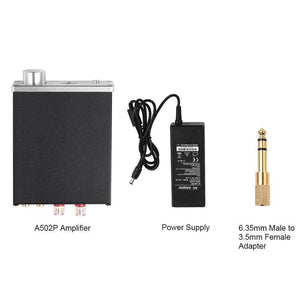 2.0Ch Stereo Audio Amp & Headphone Amplifier Mini Hi-Fi 50Watt x 2 A502P
