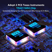 BT30A Bluetooth 4.2 Stereo Audio Amplifier 2.1 Channel Receiver Class D Mini Hi-Fi Integrated Digital Amp with Bass and Treble Control 50Watt2 + 100Watt1 for Home Passive Speakers and Subwoofer