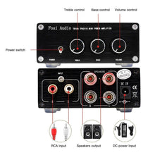 [Old Version] TB10A 2Ch Stereo Audio Amplifier Mini Hi-Fi Class D Integrated Amp 100W x 2 With Bass and Treble Control
