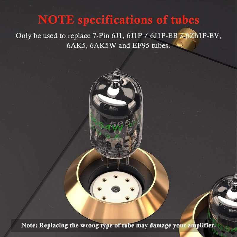 Vacuum Tubes 7-Pin 5654W Upgrade for 6AK5 6J1 6J1P EF95 Pairing Tubes 2PCS
