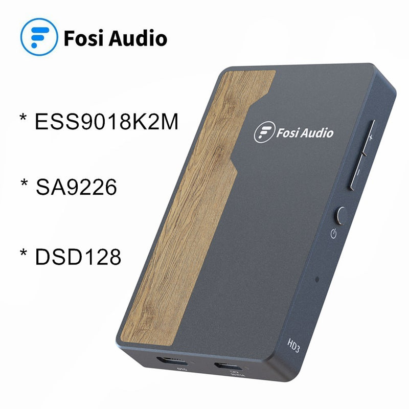 Fosi Audio HD3 DSD 128 ESS9018K2M USB DAC Headphone Amplifier for Android/Computer/Sony/Xiaomi for Apple iPhone iPad 24bit/192k