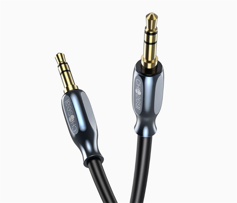 Choseal RCA Cable 3.5mm AUX RCA Adapter Cables, Dual Shielded Gold-Plated Step Down Design Y Splitter Stereo Audio Cable 1M 3.28 Feet