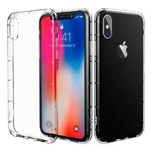iPhone X Case iPhone 10 Case, CaseSolid Apple iPhone X Crystal Clear Ultra Thin Slim Fit Shockproof Bumper Full Protective Soft TPU Cover Case for iPhone X - Clear