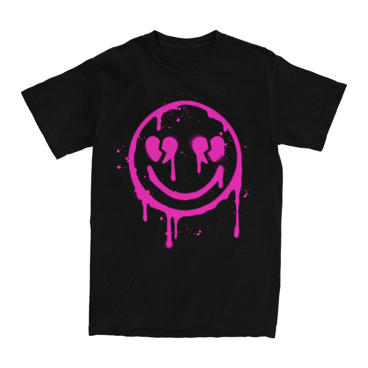 Drippy Smiley Black Tee