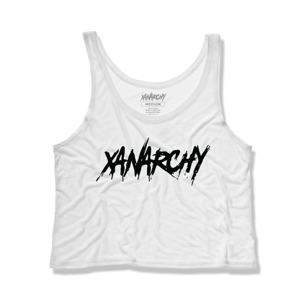 XANARCHY WOMENS CROP TOP (WHITE)