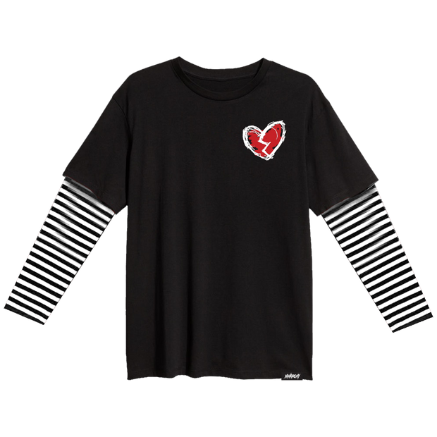 Forever Custom Stripe Sleeve Tee