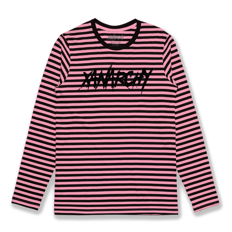 PINK STRIPED XANARCHY LS