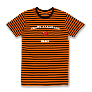 HEARTBREAK CLUB STRIPED TEE (ORANGE)
